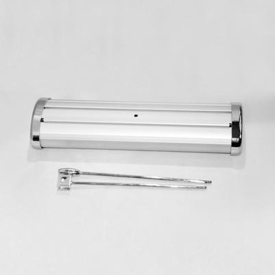 Vue de haut, contenu d'un présentoir de table imprimé avec enrouleur