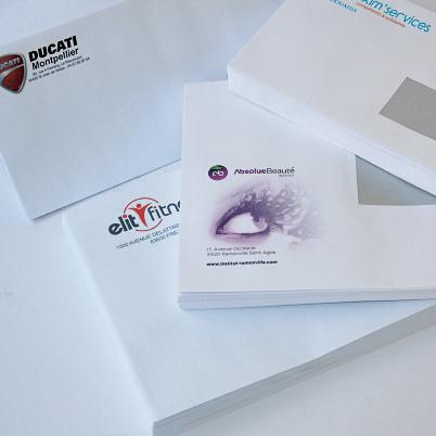 Exemple d'enveloppes imprimés