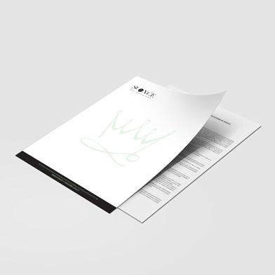 Papier en-tête imprimé recto / verso